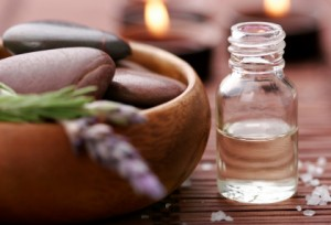 Massage oil and lavender